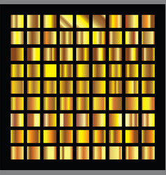 golden squares collection gold background texture vector image
