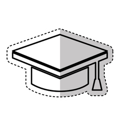 Graduate hat isolated icon vector