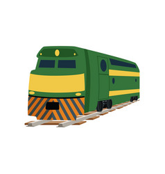 green cargo or passenger railway train locomotive vector image