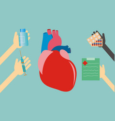 healthcare concept - heart vector image