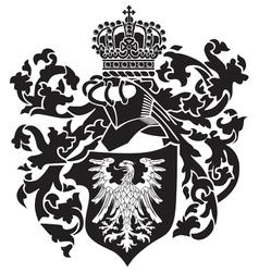 heraldic silhouette no22 vector image