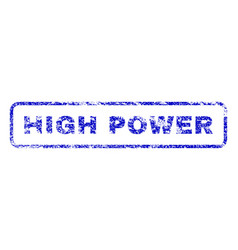 high power rubber stamp vector image