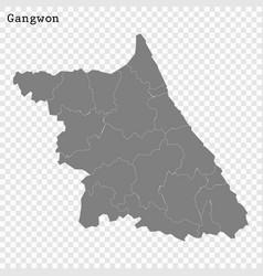 High quality map province south korea vector