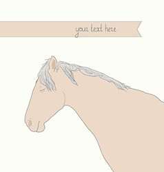 HorseHead3 vector image