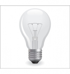 incandescent electric bulb vector image