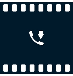 Incoming call flat style icon vector image