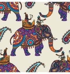Indian maharadjah hand drawn seamless pattern vector image