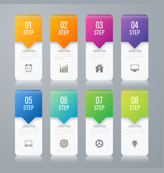 infographic design template eight option vector image