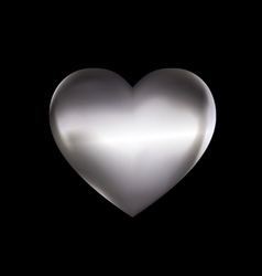 Iron solid heart vector