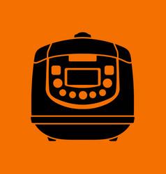 Kitchen multicooker machine icon vector