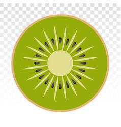 Kiwi fruit chinese gooseberry flat colour icons vector
