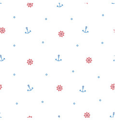 marine seamless pattern for printing onto fabric vector image
