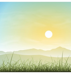 Misty Landscape vector