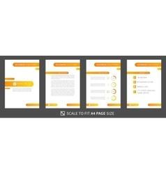 Modern business presentation creative design vector image