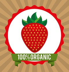 Organic healthy food design vector
