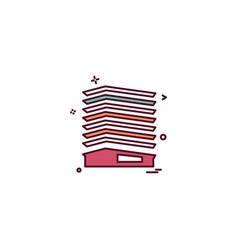 Paper box file medical bills icon desige vector