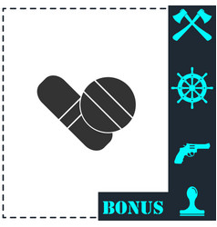 pills icon flat vector image