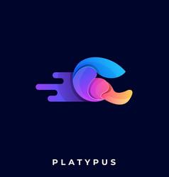 platypus template vector image