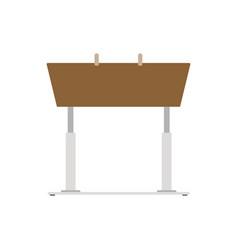 pommel horse icon sport gymnastic flat design vector image