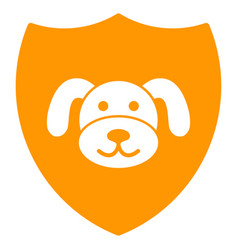 Puppy shield flat icon vector