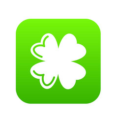 quatrefoil leaf icon green vector image