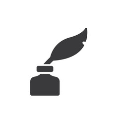 Quill ink icon vector