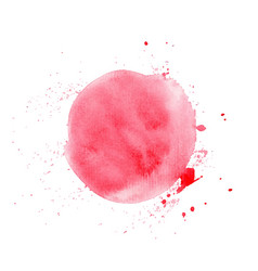red round watercolor texture vector image