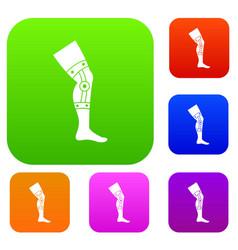 Retentive bandage set color collection vector