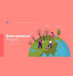 revegetation forest restoration and planting vector image