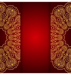 royal gold ornamental greeting card vector image