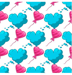 seamles pattern with cloud and balloon vector image