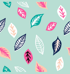 seamless tropical pattern with hand drawn colorful vector image