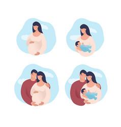Set concept about pregnancy vector