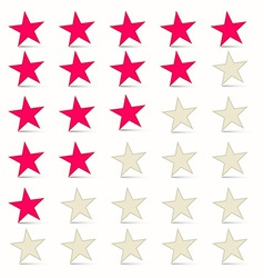 Simple Stars Set - Rating Symbols vector image