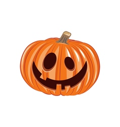 Smile Pumpkin Halloween Design Element Isolated vector