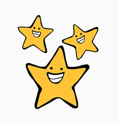 Smiling stars vector image