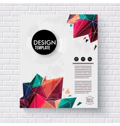 Stylish design template with colorful crystals vector image