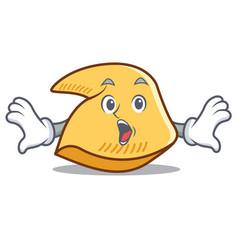 Surprised fortune cookie mascot cartoon vector