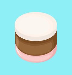 Sweet round marshmallow vector