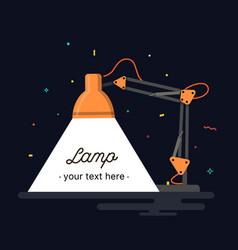 table office lamp desktop electric vector image