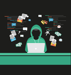 Thief or hacker is stealing log in password vector
