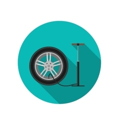 Tire service flat icon vector image