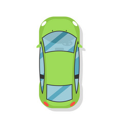 top view sedan car isolated icon vector image