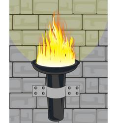 Torchlight on wall vector