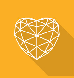 triangular heart icon vector image