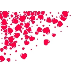 Valentine hearts background Holiday flat hearts vector image