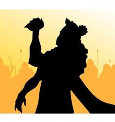 Vishnu vector image