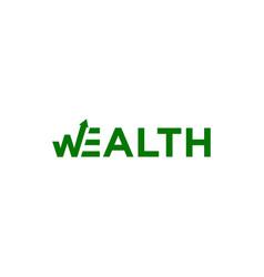 Wealth logo vector