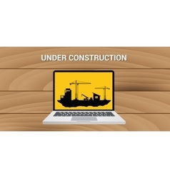 website construction construct under development vector image
