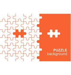 White details puzzle on orange background vector
